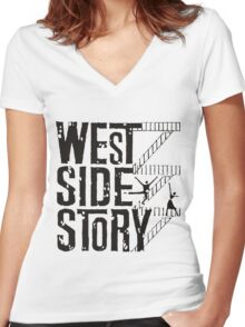 West Side Story logo Women's Fitted V-Neck T-Shirt