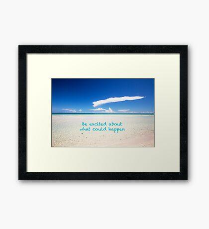 Inspirational Landscape - Beach, Inspiration, Excitement, Adventure, Holidays, Relax Framed Print