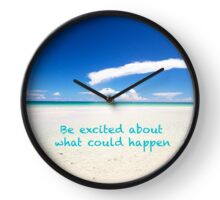 Inspirational Landscape - Beach, Inspiration, Excitement, Adventure, Holidays, Relax Clock