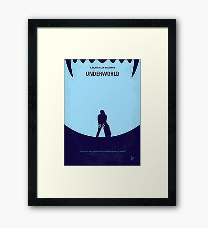 No122 My UNDERWORLD minimal movie Framed Print