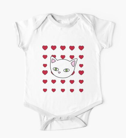 Meow hearts One Piece - Short Sleeve