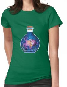 Octopus in a Bottle Womens Fitted T-Shirt