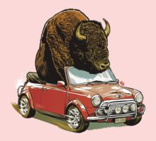 Bison in a Mini. One Piece - Long Sleeve