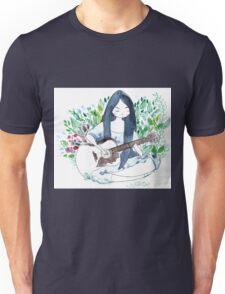 The guitare girl Unisex T-Shirt