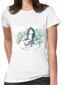 The guitare girl Womens Fitted T-Shirt