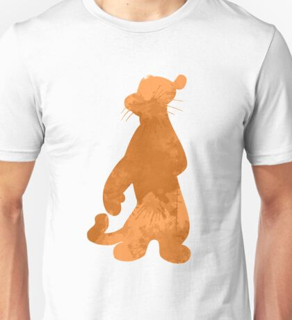 Tiger Inspired Silhouette Unisex T-Shirt