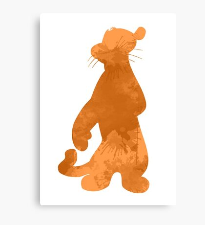 Tiger Inspired Silhouette Canvas Print