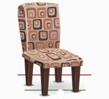 Glitch furniture chair chair modpatterncushion One Piece - Short Sleeve