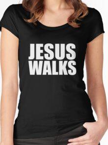 Jesus Walks - Kanye West Women's Fitted Scoop T-Shirt