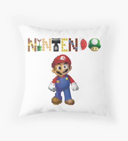Nintendo Mario Evolution Throw Pillow