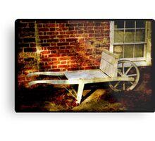 An Old Wheelbarrow, An Ancient House Metal Print
