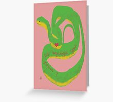 Snake Valentine's Day Card Greeting Card