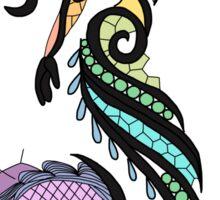 mermaid silhouette rainbow  Sticker