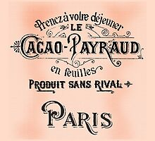 Antique Parisian Sign Cacao by Greenbaby