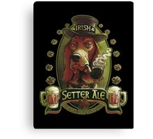 Irish Setter Red Ale Beer Lover copy Canvas Print