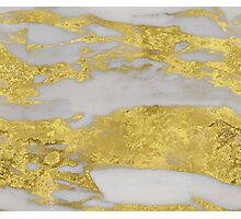 Agria - bright golden marble Photographic Print