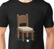 Glitch furniture chair chair wood with whitecushion Unisex T-Shirt