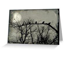 Night Crows Greeting Card