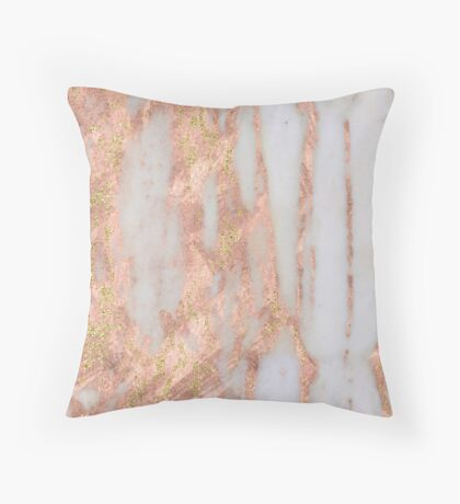 Aprillia - rose gold with golden flecks Throw Pillow