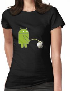 Android piss on apple funny Womens Fitted T-Shirt