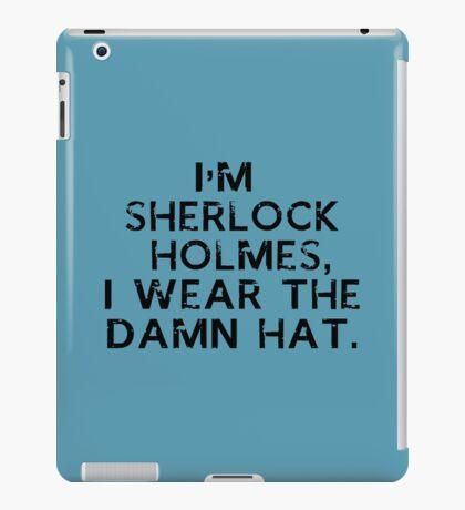 BBC Sherlock hat iPad Case/Skin