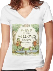 Wind in the Willows By Kenneth Grahame Women's Fitted V-Neck T-Shirt