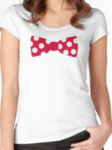 Red bow tie Women's Fitted Scoop T-Shirt
