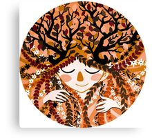 the forest yellow girl Canvas Print