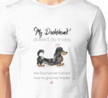 My Dachshund - Long Hair Dapple (Pink) Unisex T-Shirt