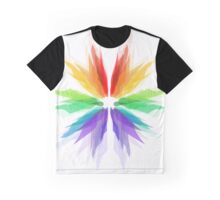 Rainbow Flower on the White Background  Graphic T-Shirt