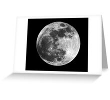 MOON (from Space) Greeting Card
