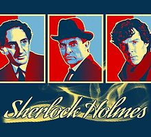 Sherlock Trilogy - X3 Red/Blue (Card) by ifourdezign
