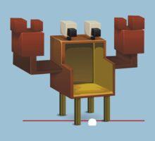 Glitch furniture chair crab chair Kids Tee