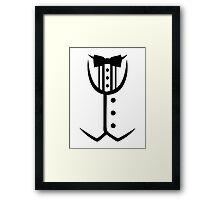 Tuxedo bow tie Framed Print