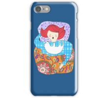 Woman with a tiny dog iPhone Case/Skin