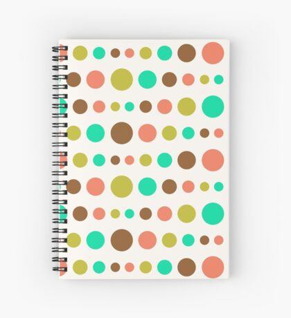 Retro Colored Circles Pattern Spiral Notebook
