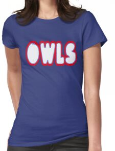 Owls Font Womens Fitted T-Shirt