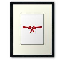 Red bow gift Framed Print