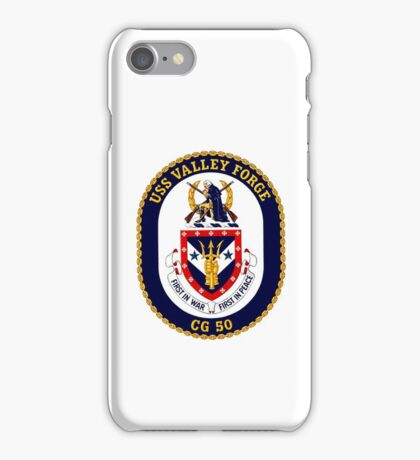 USS Valley Forge (CG-50) Crest iPhone Case/Skin