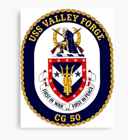 USS Valley Forge (CG-50) Crest Canvas Print