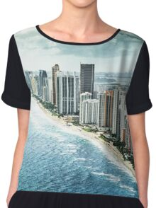 miami and fort lauderdale aerial view Chiffon Top