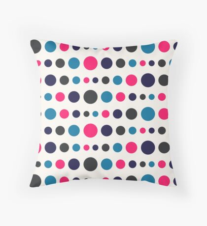 Retro Colored Circles Pattern Throw Pillow