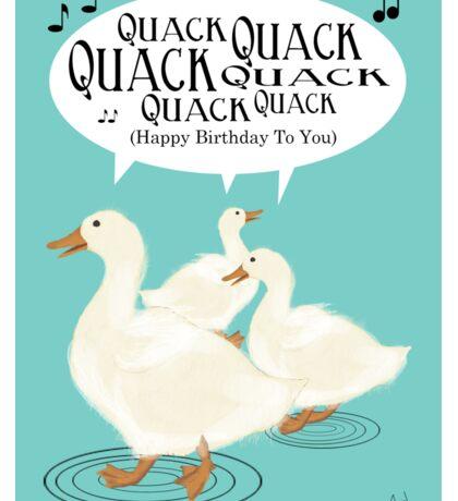 Duck Birthday Card Sticker
