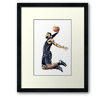 LeBron James Dunking Collection Framed Print
