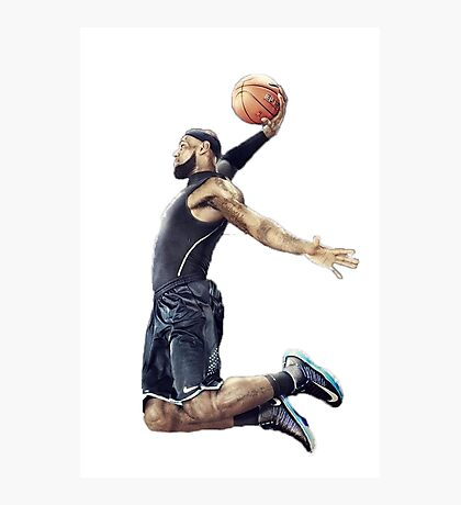 LeBron James Dunking Collection Photographic Print