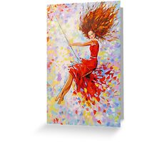 Girl on the swing Greeting Card
