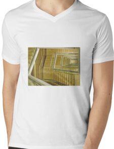Riga Latvia New Library Stairwell. Mens V-Neck T-Shirt