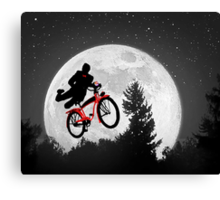 Pee's Wees Extraterrestrial Adventure (B&W) Canvas Print