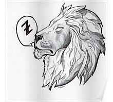 Lion a li-on around Poster