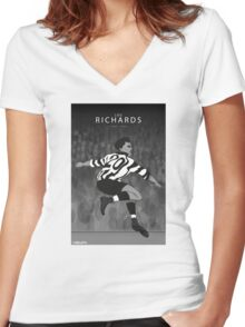 Lou Richards Women's Fitted V-Neck T-Shirt